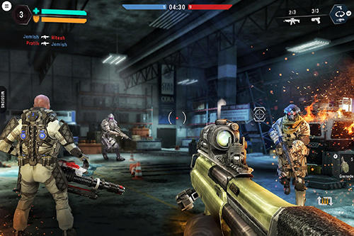 Screenshots von Shooting heroes legend: FPS gun battleground games für Android-Tablet, Smartphone.