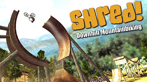 Shred! Downhill mountainbiking poster