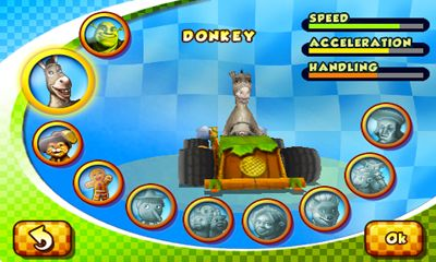 Screenshots do Shrek kart - Perigoso para tablet e celular Android.