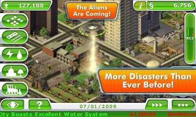 Screenshots do SimCity Deluxe - Perigoso para tablet e celular Android.