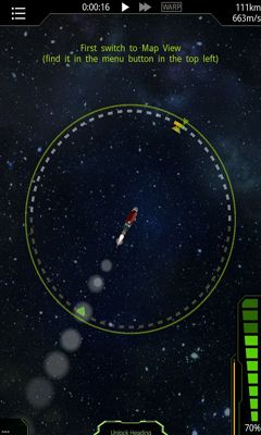 Screenshots of the SimpleRockets for Android tablet, phone.