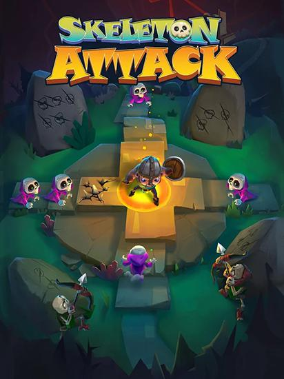 Skeleton attack poster