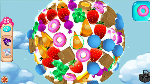 Sky confectioners: 3D puzzle with sweets screenshot 1