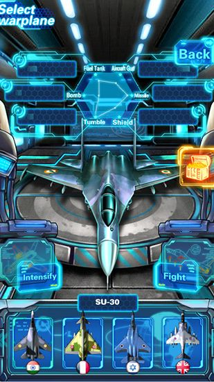 Screenshots of the Sky fighter: War machine for Android tablet, phone.