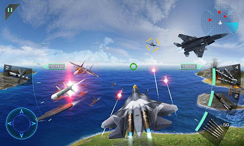 Screenshots von Sky fighters 3D für Android-Tablet, Smartphone.