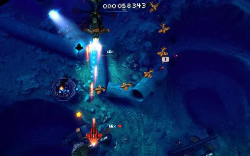 Sky force: Reloaded für Android spielen. Spiel Himmelskraft: Reloaded kostenloser Download.