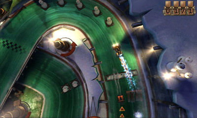Screenshots of the Slingshot Racing for Android tablet, phone.