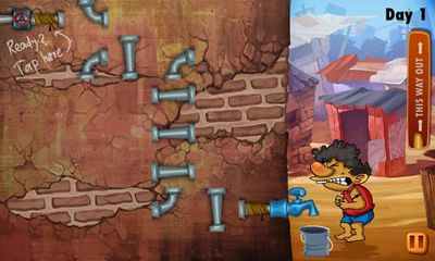 Screenshots do Slumdog Plumber & Pipes Puzzle - Perigoso para tablet e celular Android.