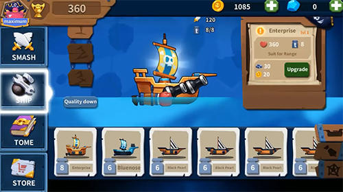 Juega a Smashing pirateships para Android. Descarga gratuita del juego Barcos piratas destructivos.