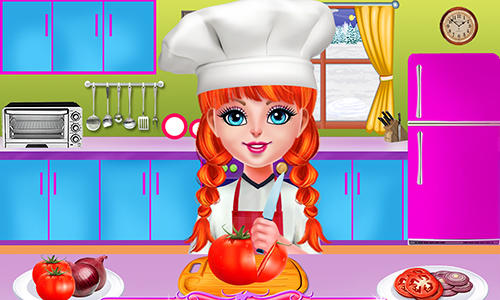 Smoky burger maker chef: Cooking games for girls screenshot 1