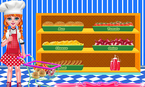 Smoky burger maker chef: Cooking games for girls screenshot 2