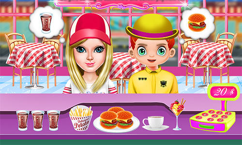 Smoky burger maker chef: Cooking games for girls screenshot 3