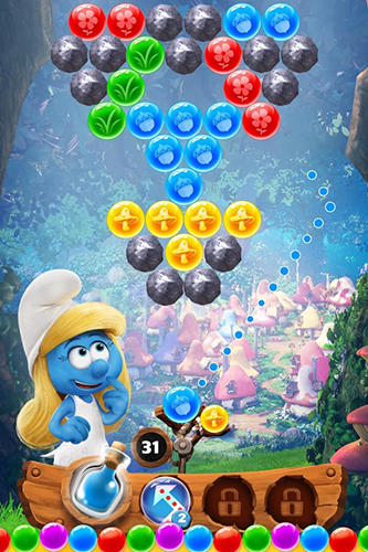 Screenshots von Smurfs bubble story für Android-Tablet, Smartphone.