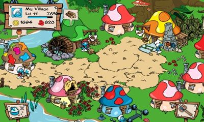 Screenshots von Smurfs' Village für Android-Tablet, Smartphone.