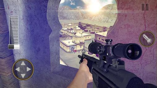 Screenshots of the Sniper shooter: Bravo for Android tablet, phone.
