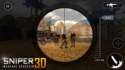 Screenshots do Sniper warfare assassin 3D - Perigoso para tablet e celular Android.