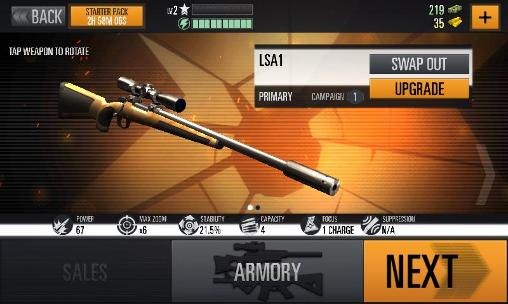 Screenshots of the Warfare sniper 3D for Android tablet, phone.