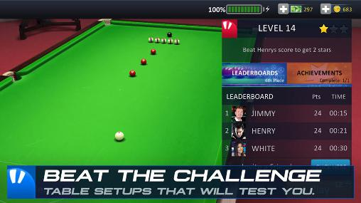 Screenshots von Snooker stars für Android-Tablet, Smartphone.