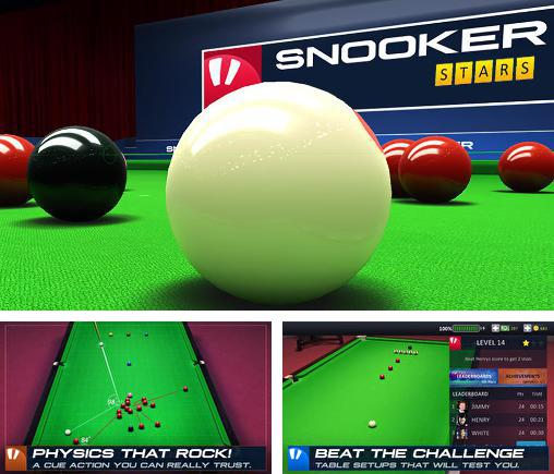 In addition to the game Snooker live pro for Android phones and tablets, you can also download Snooker stars for free.