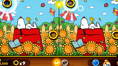 Snoopy spot the difference screenshot 1