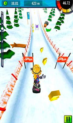 Screenshots do Snow Racer Friends - Perigoso para tablet e celular Android.