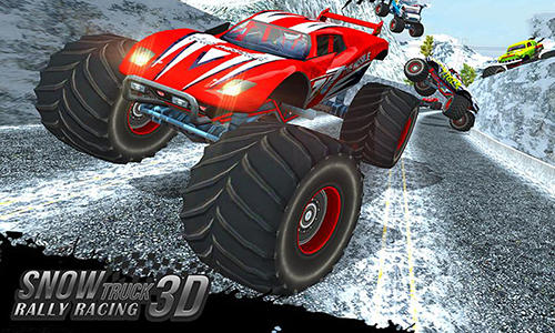 Snow racing: Monster truck 17. Snow truck: Rally racing 3D poster