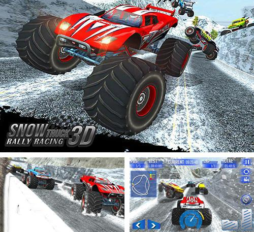 Zusätzlich zum Spiel Autopark Derby für Android-Telefone und Tablets können Sie auch kostenlos Snow racing: Monster truck 17. Snow truck: Rally racing 3D, Schneerennen: Monster Truck 17. Schneetruck: Rallyrennen 3D herunterladen.
