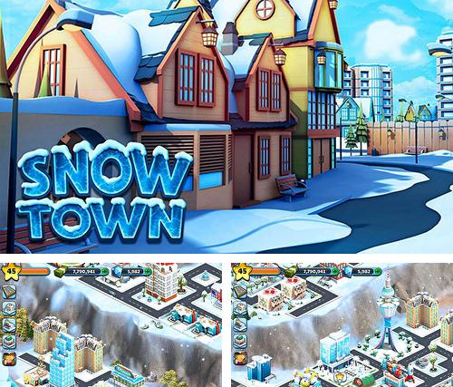 Snow town: Ice village world