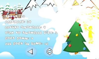 Capturas de pantalla de SnowBall Fight Winter Game HD para tabletas y teléfonos Android.