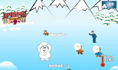 Screenshots of the SnowBall Fight Winter Game HD for Android tablet, phone.