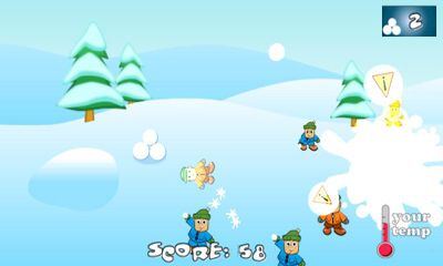 Android タブレット、携帯電話用SnowBall Fight Winter Game HDのスクリーンショット。
