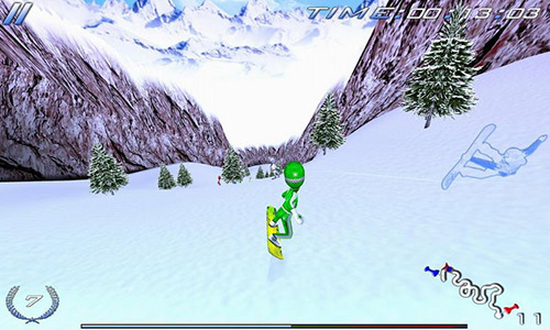 Screenshots von Snowboard racing ultimate für Android-Tablet, Smartphone.