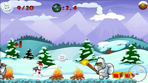 Download Snowman run Android free game.
