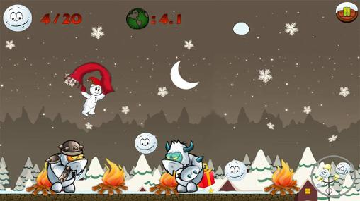 Screenshots of the Snowman run for Android tablet, phone.