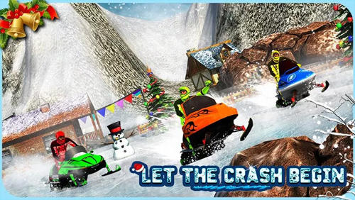 Kostenloses Android-Game Schneemobil Crash Derby 3D. Vollversion der Android-apk-App Hirschjäger: Die Snowmobile crash derby 3D für Tablets und Telefone.