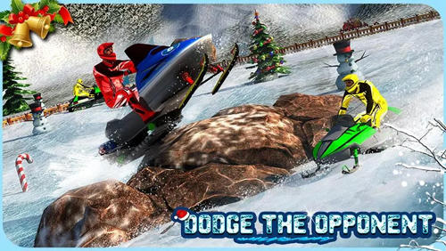 Screenshots von Snowmobile crash derby 3D für Android-Tablet, Smartphone.