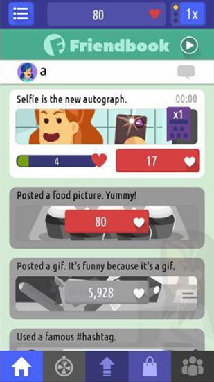 Screenshots von So social: Become an internet celebrity! für Android-Tablet, Smartphone.