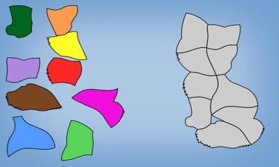 Screenshots of the Kids Shape Puzzle for Android tablet, phone.