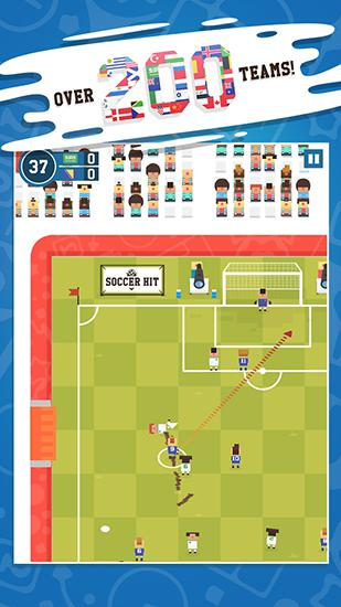 Screenshots von Soccer hit für Android-Tablet, Smartphone.