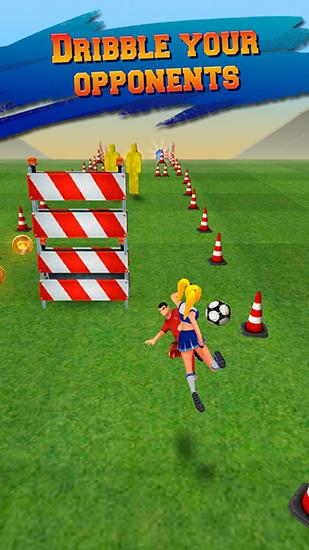 Kostenloses Android-Game Fußballläufer: Fußball Rausch. Vollversion der Android-apk-App Hirschjäger: Die Soccer runner: Football rush für Tablets und Telefone.