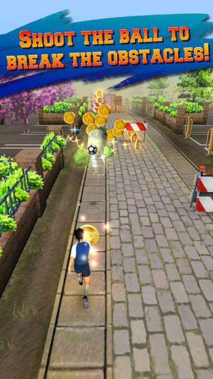 Screenshots von Soccer runner: Football rush für Android-Tablet, Smartphone.