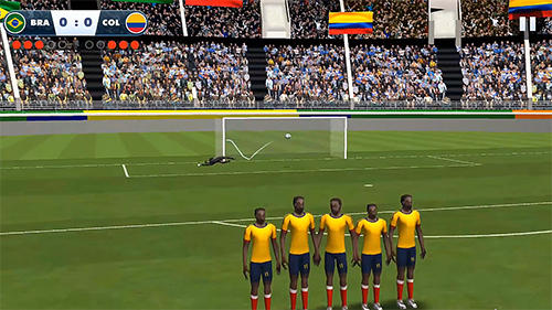 Kostenloses Android-Game Fußball Weltliga: Freistoß. Vollversion der Android-apk-App Hirschjäger: Die Soccer world league freekick für Tablets und Telefone.