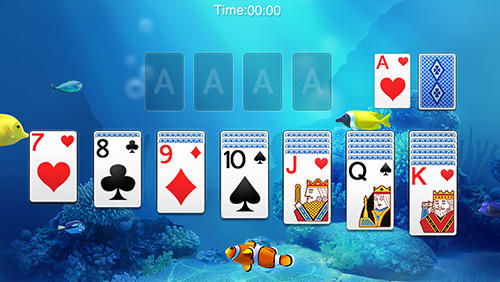 Android タブレット、携帯電話用Solitaire by Solitaire funのスクリーンショット。