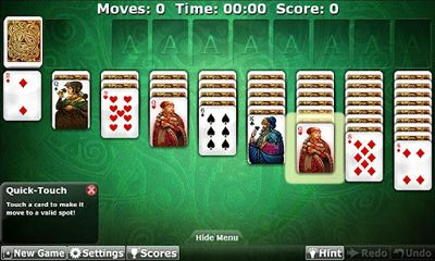 Screenshots of the Solitaire Double-Deck HD for Android tablet, phone.