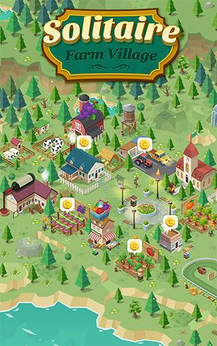 Solitaire farm village poster