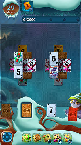 Solitaire: Frozen dream forest screenshot 1