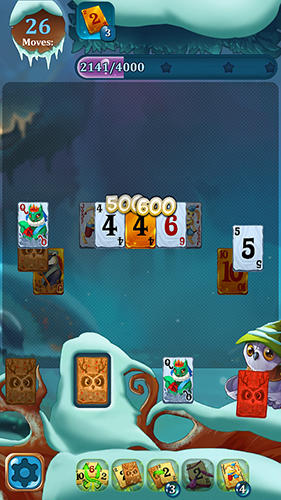 Solitaire: Frozen dream forest screenshot 2