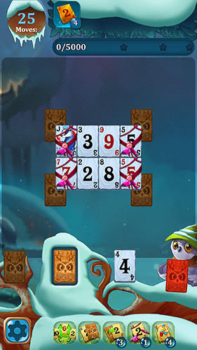 Solitaire: Frozen dream forest screenshot 3