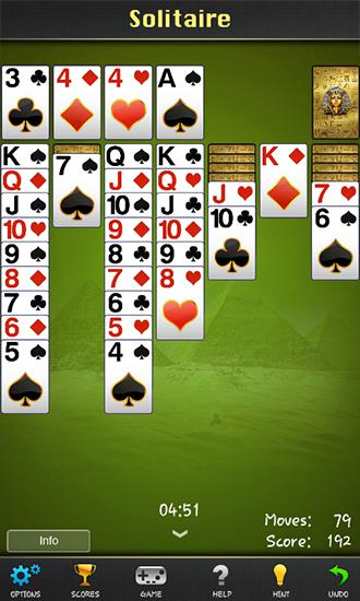 Screenshots von Solitaire: Pharaoh für Android-Tablet, Smartphone.