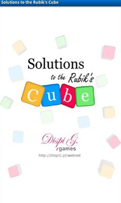 Solutions to the Rubik's Cube poster
